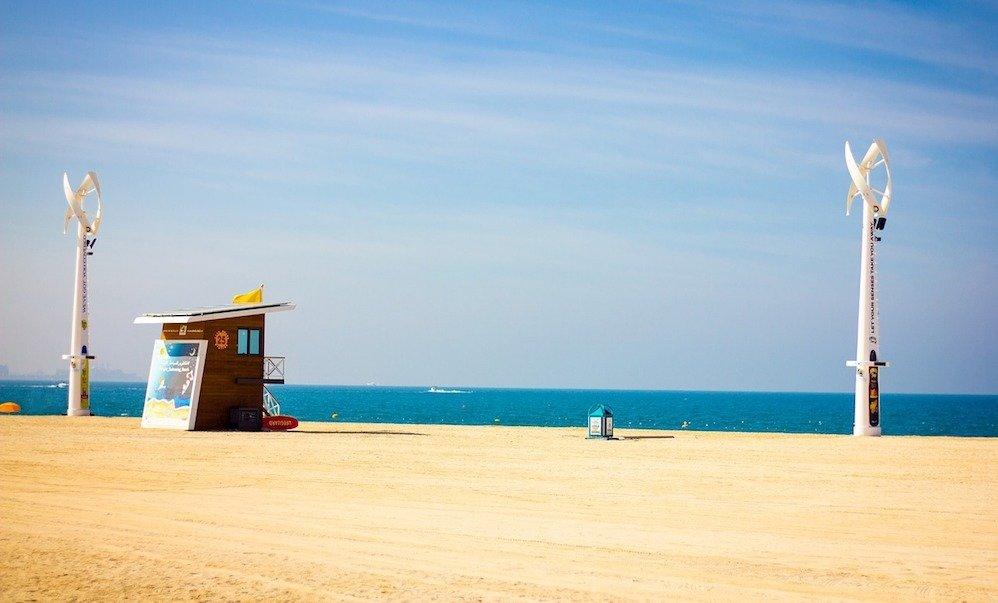 Bandiera blu per le spiagge di Dubai